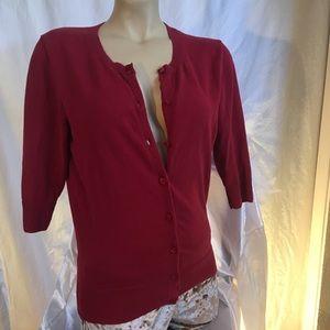 Me Tina brick red 3/4 sleeve cardigan